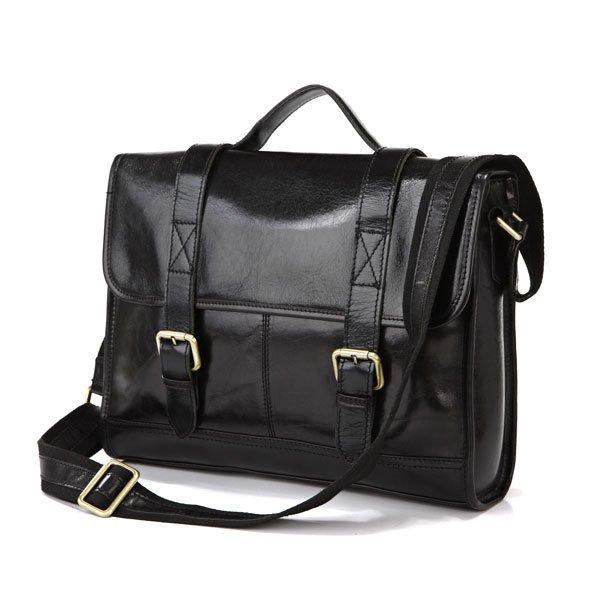 """Vintage Cattle Leather Men's 14"""" Laptop Bag Briefcase Messenger 13"""" Macbook Bag Handbag"""
