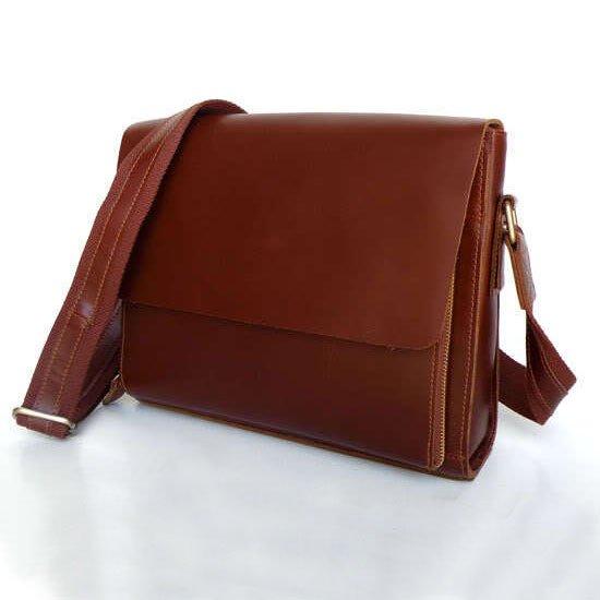 New Arrival Vintage Leather Red Brown Briefcase Messenger Bag Ipad Case Macbook Bag