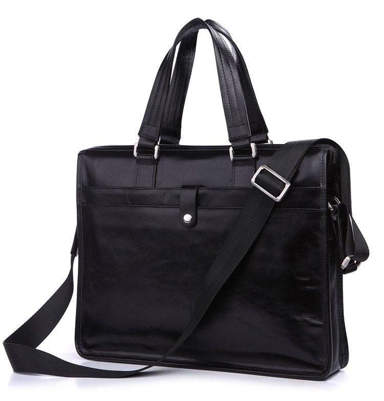 Cowhide Men's Shoulder Bag Briefcase Messenger Tote Bag Laptop Macbook Case
