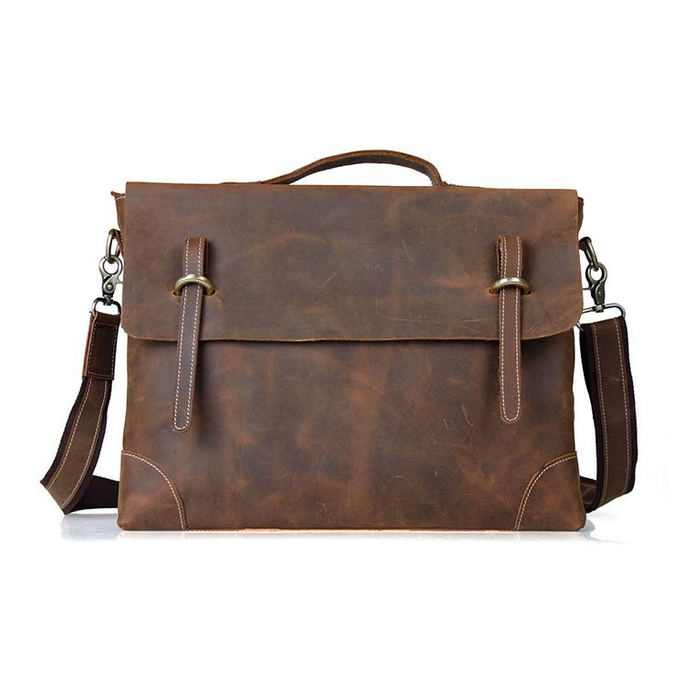"New Year Gift Men's Hard Briefcase 15"" Laptop Messenger Bag Vintage Multi-Use Tote Freeshipping"