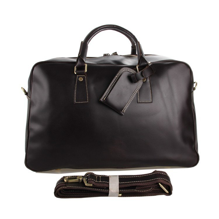 100% Genuine Cow Leather Large Volume Business Bag Travel Bags Luggage Baggage Tote Satchel-K71-56