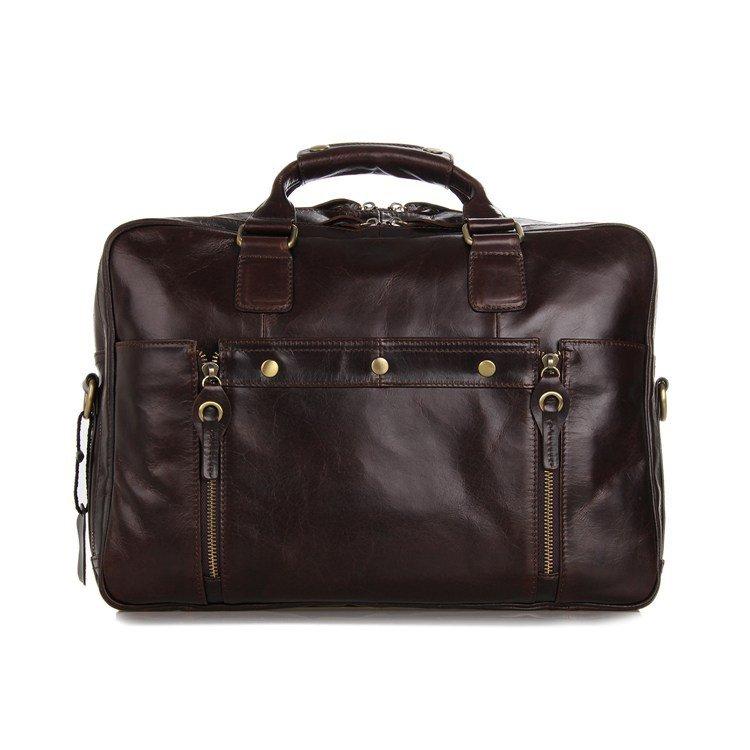 New Style Vintage Leather Men's Coffee Messenger Bag Handbag Business Tote Workmate - K72-01