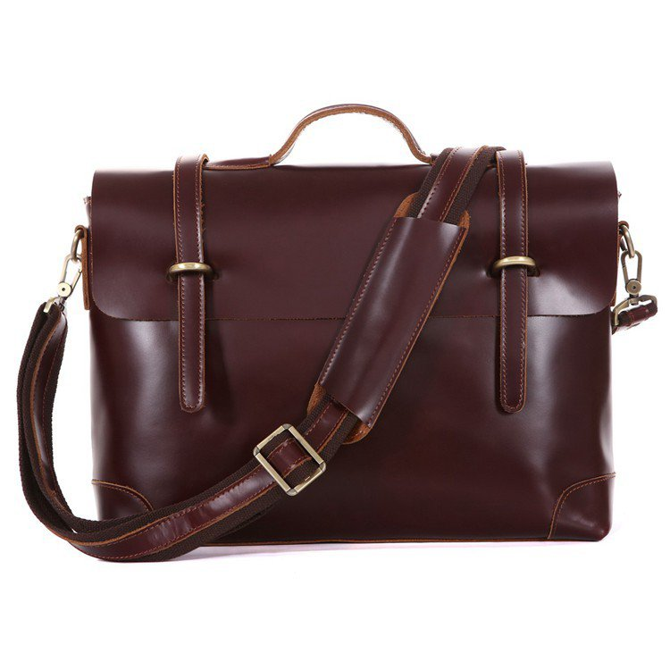 "Best Gift For Men Cowhide leather Briefcase Laptop Messenger Bag Ipad 14"" 15"" Laptop 15"" Macbook Bag"