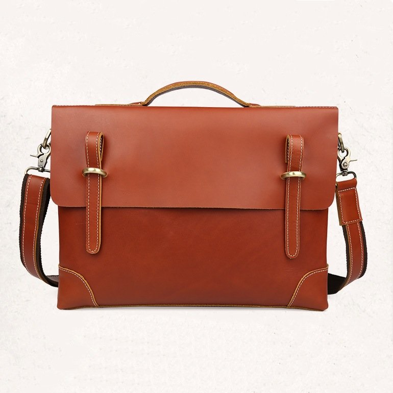 X'mas Gift Mens Bag Crazy Horse Leather Macbook Top Grade Large Tote--FREE SHIPPING