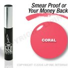 LIP INK Coral Smearproof Lip Stain + Off & Shine Towelettes