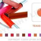 LIP INK Texas Peach Smearproof Lip Stain LipGel + Off & Shine Towelettes