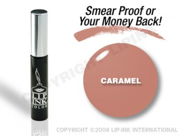 LIP INK Caramel Smearproof Lip Stain + Off & Shine Towelettes