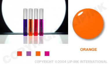 LIP INK Neon Orange Smearproof Lip Stain LipGel + Off & Shine Towelettes