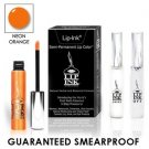 LIP INK Natural Vegan Smearproof Neon Orange Lip Stain LipGel Kit + Off & Shine