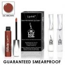 LIP INK Natural Vegan Smearproof DC Brown Lip Stain LipGel Kit + Off & Shine