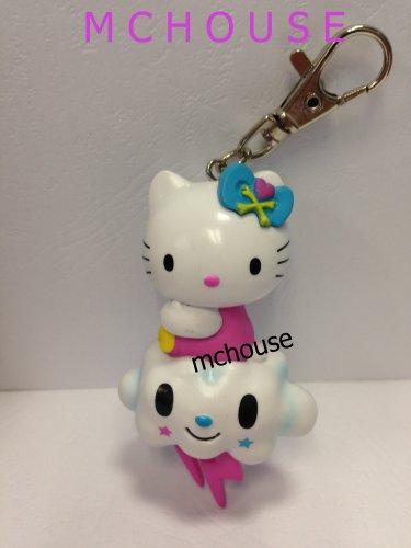 7-11 HK Sanrio Hello Kitty Tokidoki Wonderland Figurine Cloud Kitty Keychain