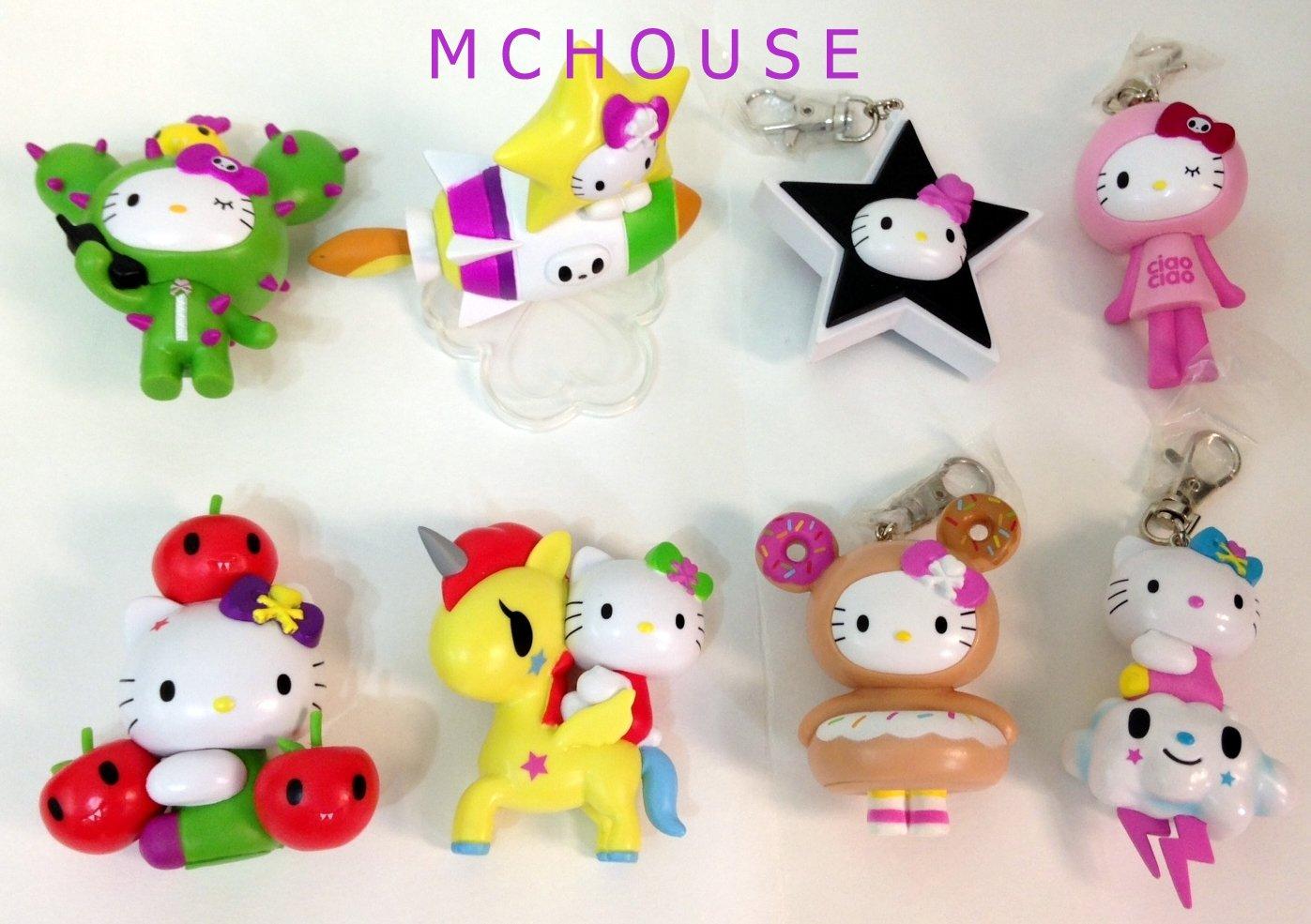 7-11 HK Sanrio Hello Kitty Tokidoki Wonderland Figurine 8pcs set