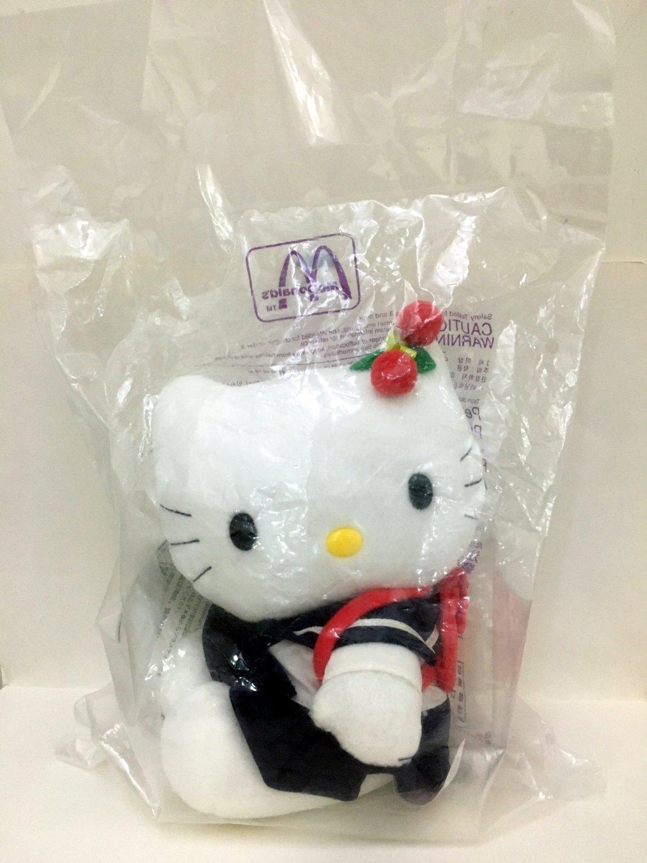 1999 Mcdonald's Sanrio Hello Kitty Love McKitty Plush Hello Kitty Student Doll