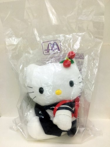 1999 Mcdonald's Sanrio Hello Kitty Love McKitty Plush Hello Kitty Student Doll