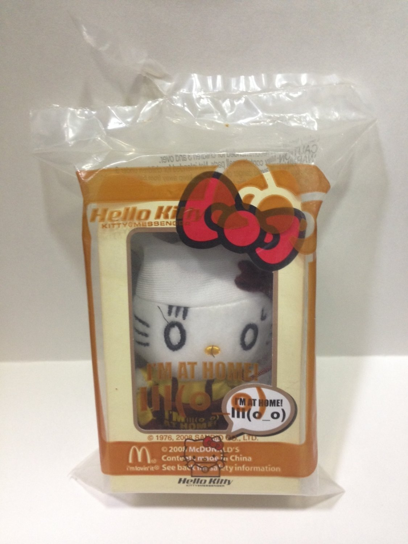 2008 Mcdonald's HK Sanrio HELLO KITTY Messenger doll Plush (I'm home)