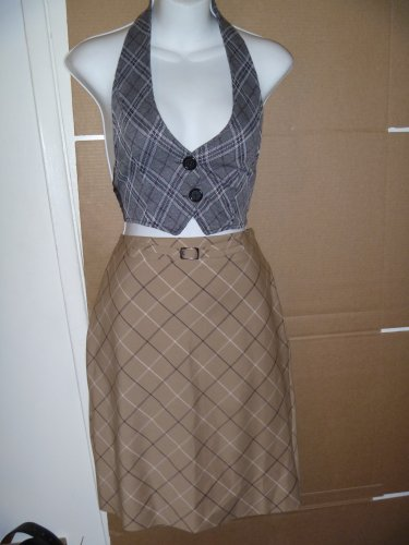 ANN TAYLOR LIGHT BROWN SKIRT Sz 6 EUC