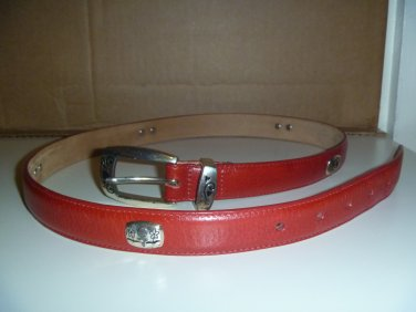 Brighton Golf Themed Leather Belt Sz L-34