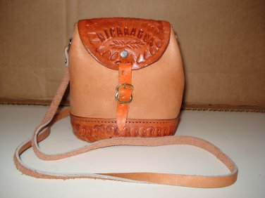 HANDMADE NICARAGUAN TOOLED LEATHER PURSE