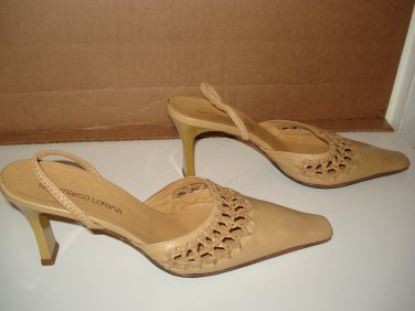 GIANMARCO LORENZI LEATHER SANDALS Sz 6..EUC