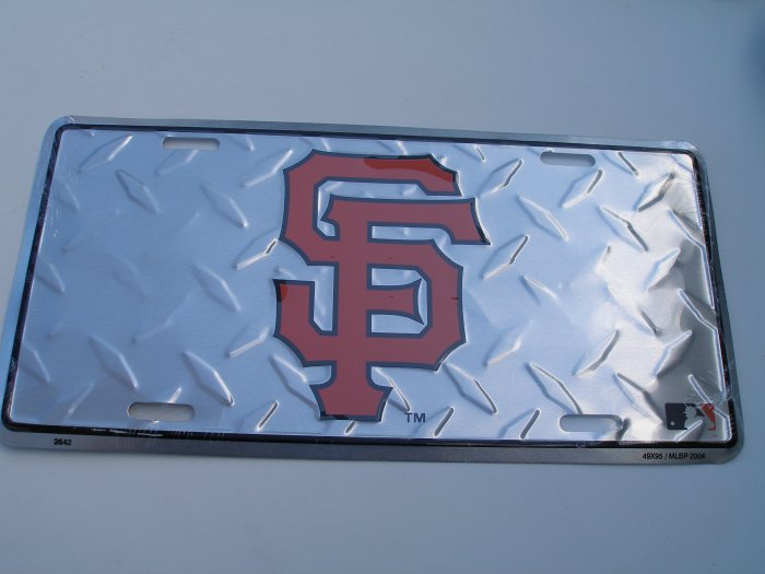San Francisco Giants metal license plate-diamond
