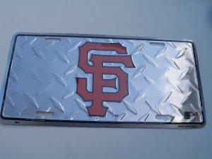 San Francisco Giants metal license plate-diamond