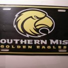 Southern Miss University metal license plate