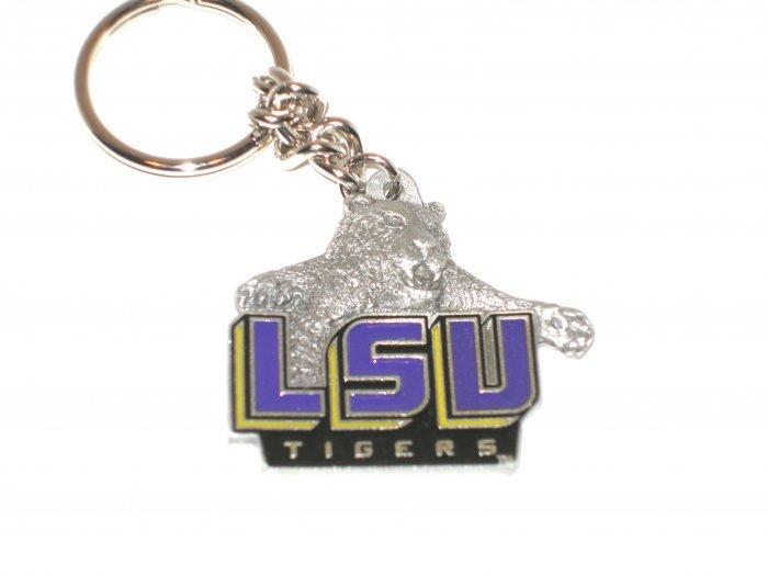 LSU Tigers Pewter Keychain