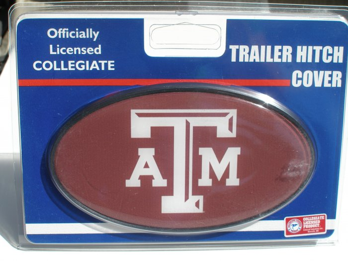 Texas A&M University Plastic Trailer Hitch Cover
