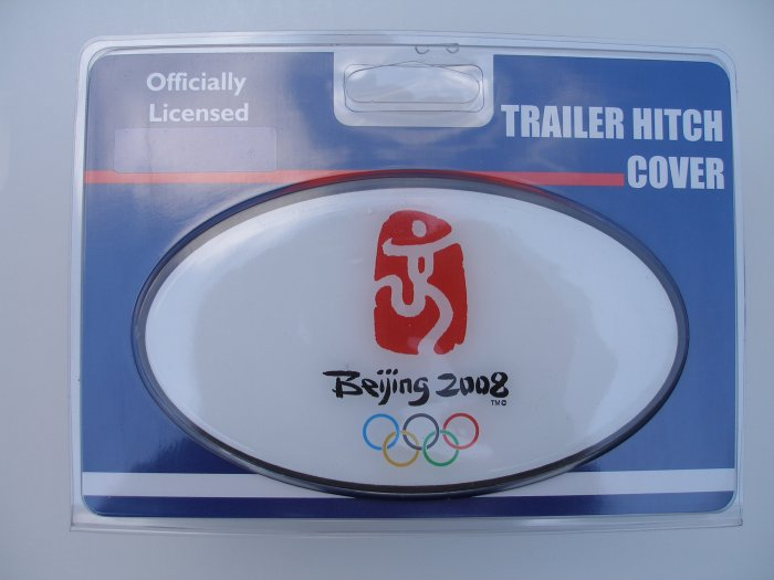 Beijing Olympics Plastic Trailer Hitch Cover