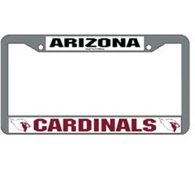Arizona Cardinals Chrome License Plate Frame