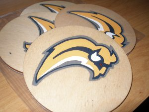 Buffalo Sabres Handpainted Wooden Coasters-set of 4