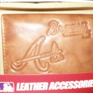 Atlanta Braves Pecan Leather Trifold Wallet