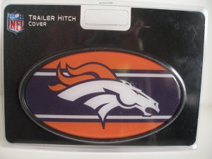 Denver Broncos Plastic Trailer Hitch Cover