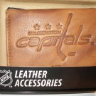 Washington Capitals Pecan Leather Embossed Trifold Wallet