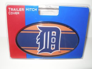 Detroit Tigers Plastic Trailer Hitch Cover