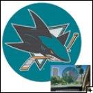 """San Jose Sharks 12"""" Perforated Decal"""