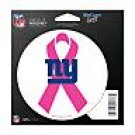 New York Giants Indoor/Outdoor Pink Ribbon Magnet
