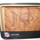 Jacksonville Jaguars Pecan Leather Trifold Wallet