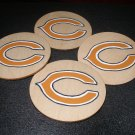 Chicago Bears Homemade Wooden Coasters-set of 4