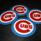 Chicago Cubs Homemade Wooden Coasters-set of 4