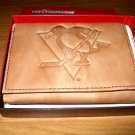 Pittsburgh Penguins Pecan Leather Trifold Wallet