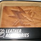 San Jose Sharks Pecan Leather Trifold Wallet