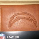 San Diego Chargers Pecan Leather Trifold Wallet
