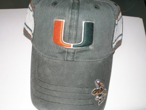 University of Miami Baseball style cap