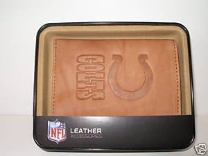 Indianapolis Colts Pecan Leather Trifold Wallet