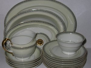 TK Thun Bohemia Empire Art Deco Plates, Bowls, Servers