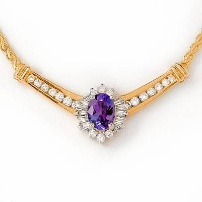 2.4 Carat Tanzanite & Diamond Necklace