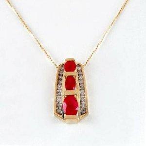 1.7 Carat Ruby & Diamond Pendant