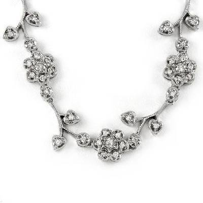 2.0 Carat Diamond Floral Necklace