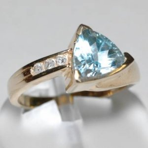 2.0 Carat Topaz & Diamond Ring